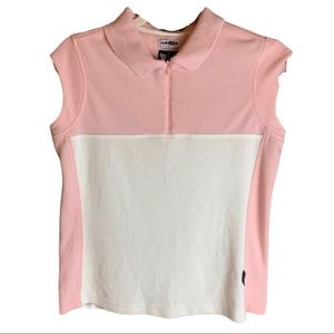 Adidas Climalite Pink & White Colour Block Tank